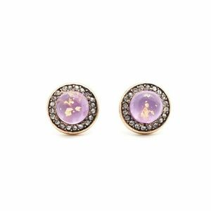 Jewelry - 🆕 Lavender Small Round Crystal Stud Earrings